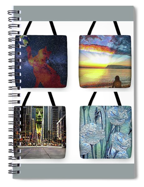 Tote Bags Samples Spiral Notebook