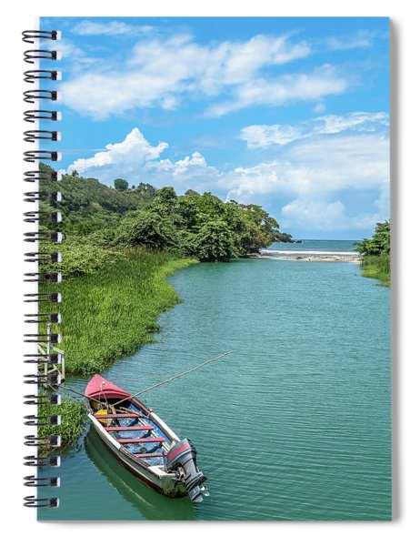 Tour Boat In Jamaica Spiral Notebook