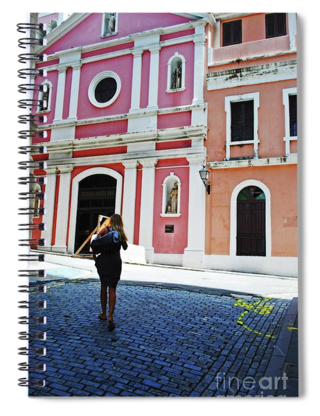 Touristing Old San Juan Spiral Notebook