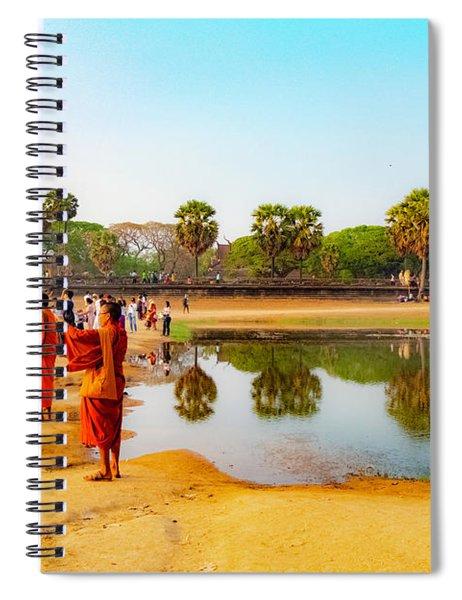 Tourists At Angkor Wat - Siem Reap, Cambodia Spiral Notebook