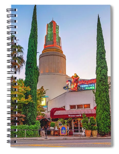Tower Cafe Sunset- Spiral Notebook