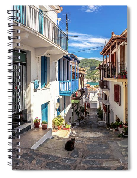 Town Of Skopelos Spiral Notebook