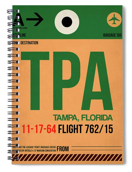 Tpa Tampa Luggage Tag I Spiral Notebook