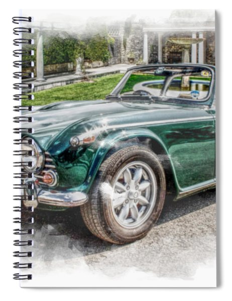 Triumph Tr5 At Roman Gardens Spiral Notebook