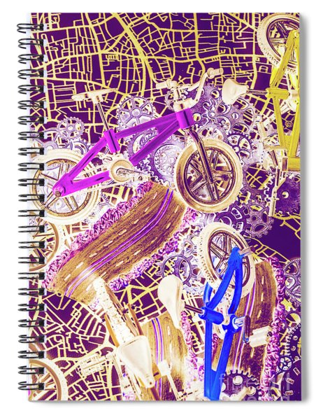 Tracks And Tires Spiral Notebook