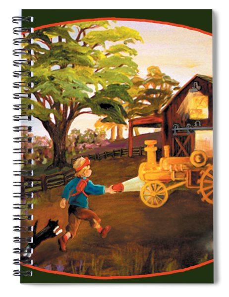 Tractor And Barn Spiral Notebook