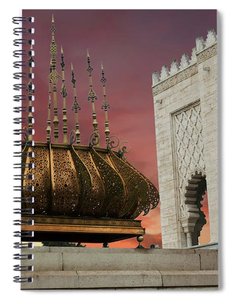 Traditional Outdoor Lighting Urn, Mausoleum Spiral Notebook