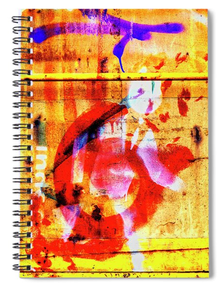 Train Art In Yellow And Red Spiral Notebook