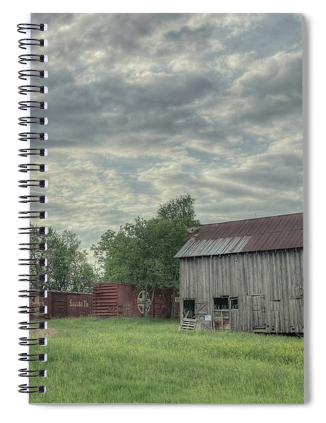 Train Cars And A Barn Spiral Notebook