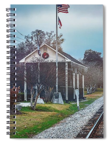 Train Tracks To Old Town Spiral Notebook