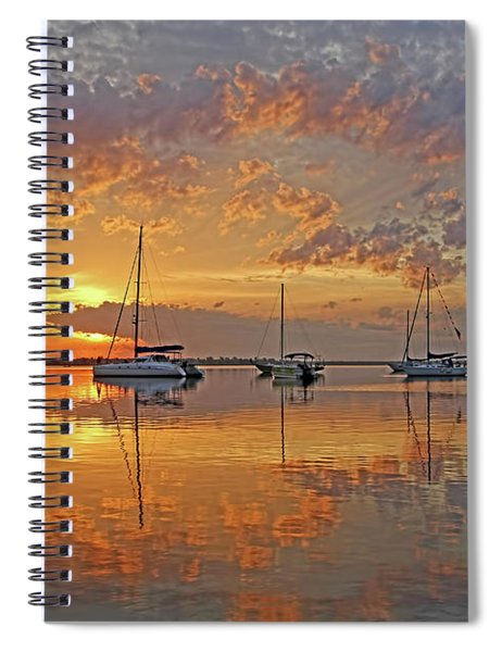 Tranquility Bay - Florida Sunrise Spiral Notebook