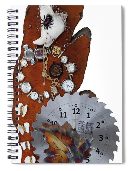 Trapped In The Fourth Dimension Spiral Notebook