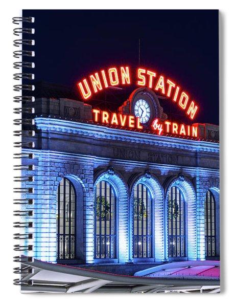 Travel By Train - Denver Union Station #2 Spiral Notebook