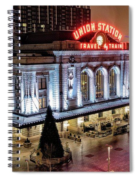 Travel By Train - Denver Union Station Spiral Notebook