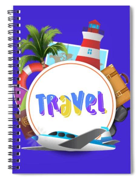 Travel World Spiral Notebook