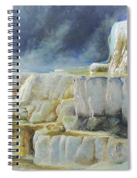 Travertine Terraces - Mammoth Hot Springs, Yellowstone National Park Spiral Notebook
