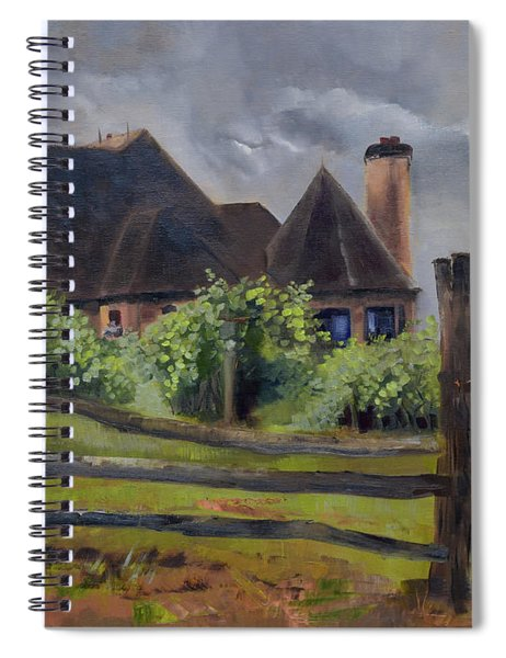 Treasures Beyond The Fence - Chateau Meichtry Spiral Notebook by Jan Dappen