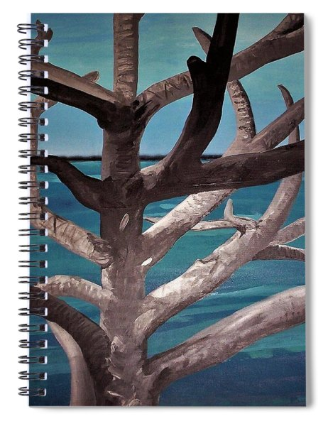 Tree And Beach Spiral Notebook