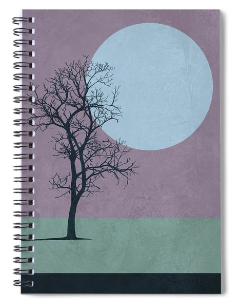 Tree And The Moon Spiral Notebook