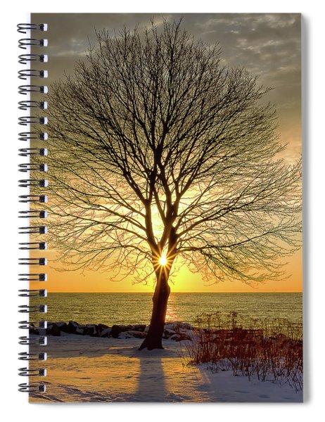 Tree Framed Sunrise New Hampshire Spiral Notebook