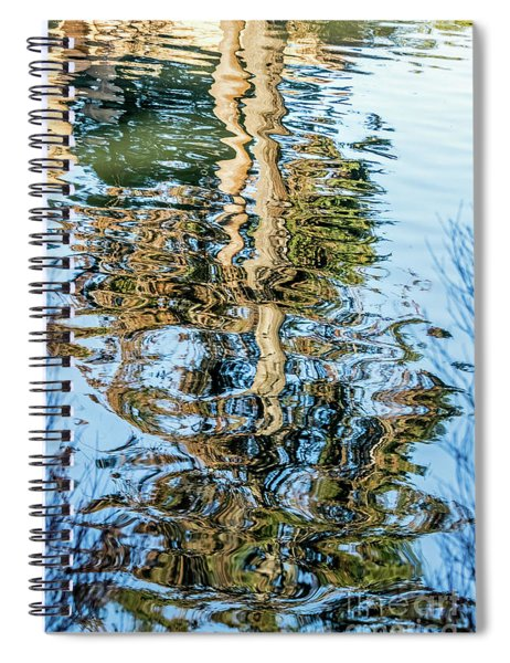 Tree Reflection Abstract Spiral Notebook