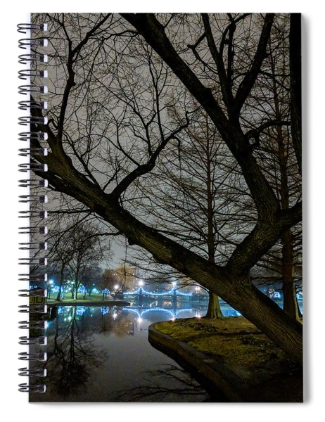 Trees And Lights Spiral Notebook