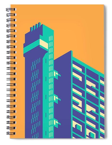 Trellick Tower London Brutalist Architecture - Plain Apricot Spiral Notebook