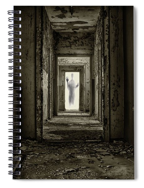 Trepidation Pressing Against The Window Of Your Psyche Spiral Notebook by Movie Poster Prints