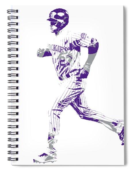 Trevor Story Colorado Rockies Pixel Art 3 Spiral Notebook