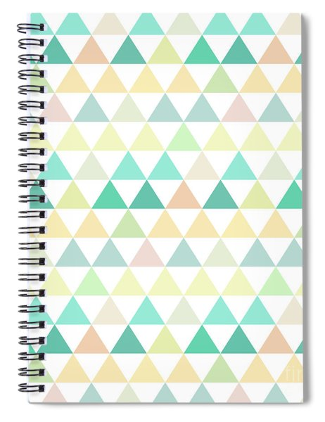 Triangle Abstract Background- Efg204 Spiral Notebook