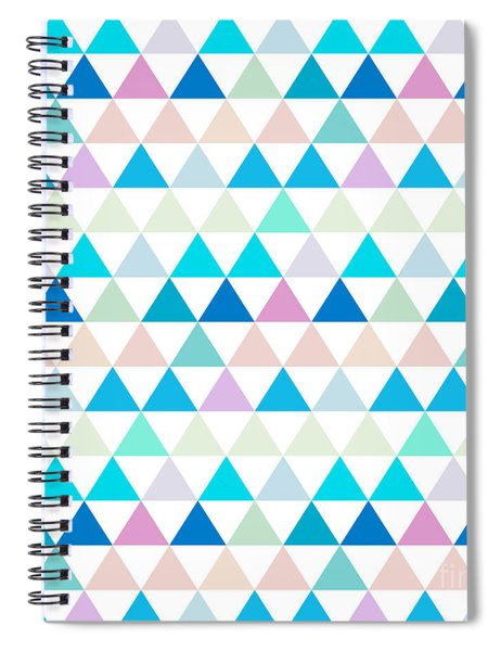 Triangle Abstract Background- Efg206 Spiral Notebook
