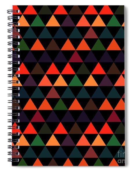 Triangle Abstract Background- Efg208 Spiral Notebook