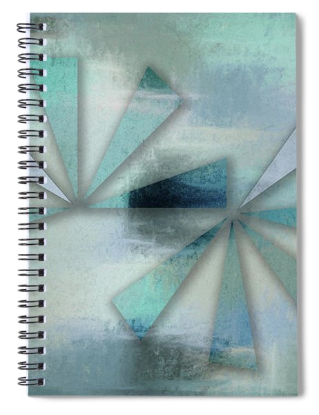 Triangles On Blue Grey Backdrop Spiral Notebook
