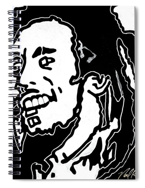 Tribute To Bob Marley Spiral Notebook