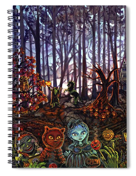 Trick Or Treat Sleepy Hollow Spiral Notebook