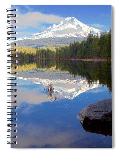 Trillium Lake November Morning Spiral Notebook