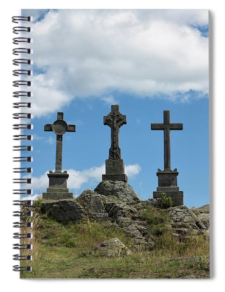 Trinity Crosses On The Hill Spiral Notebook