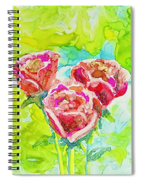 Trio Of Roses Spiral Notebook