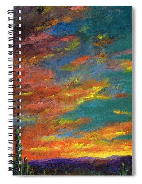 Triptych 1 Desert Sunset Spiral Notebook