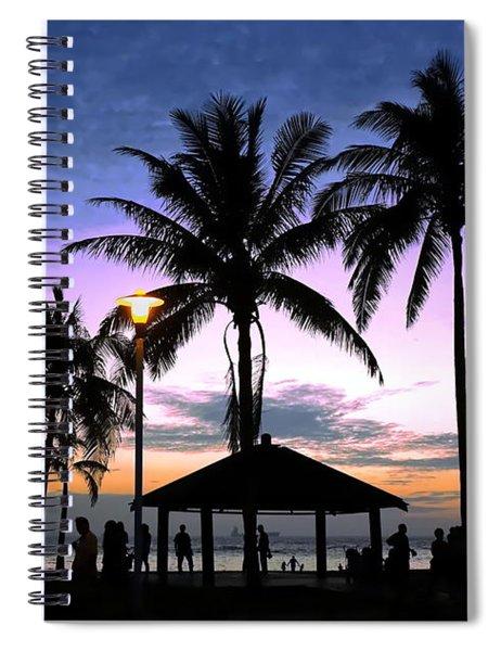 Tropical Beach Scene After Sunset Spiral Notebook