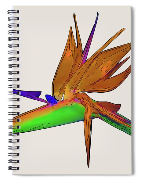 Tropical Bird Of Paradise Watercolor Spiral Notebook