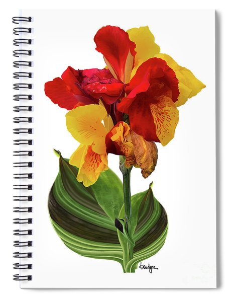 Tropical Bouquet-flower Two Spiral Notebook