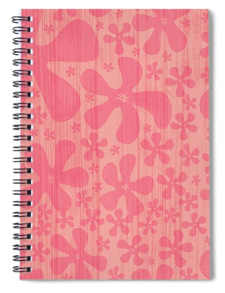 Tropical Floral Pattern Spiral Notebook