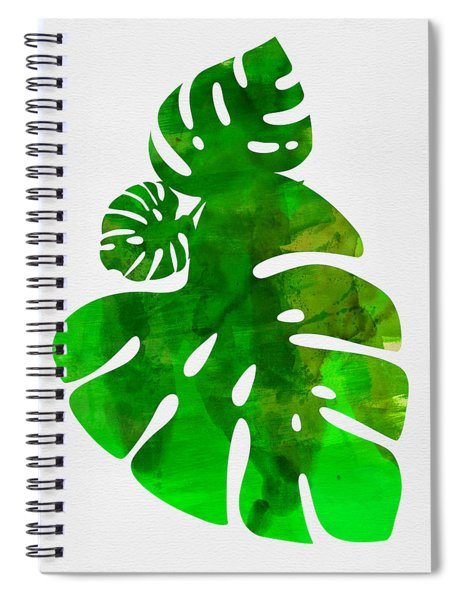 Tropical Monstera Leafs Spiral Notebook