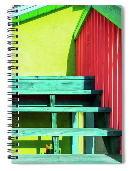 Tropical Steps And Rails Spiral Notebook