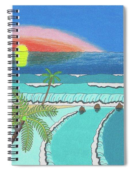 Tropical Sunrise Spiral Notebook
