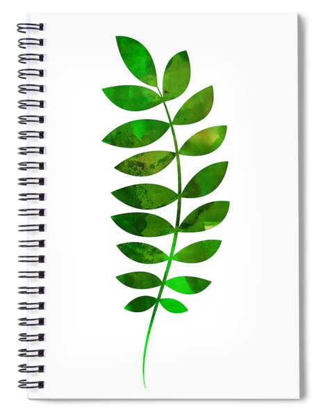 Tropical Zamioculcas Leaf  Spiral Notebook