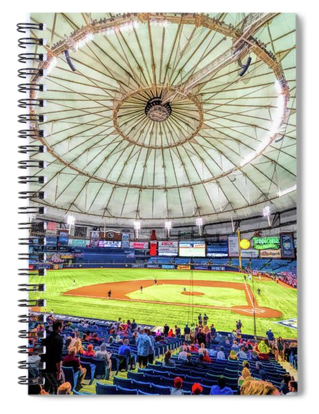 Tropicana Field Tampa Bay Rays Spiral Notebook by Christopher Arndt