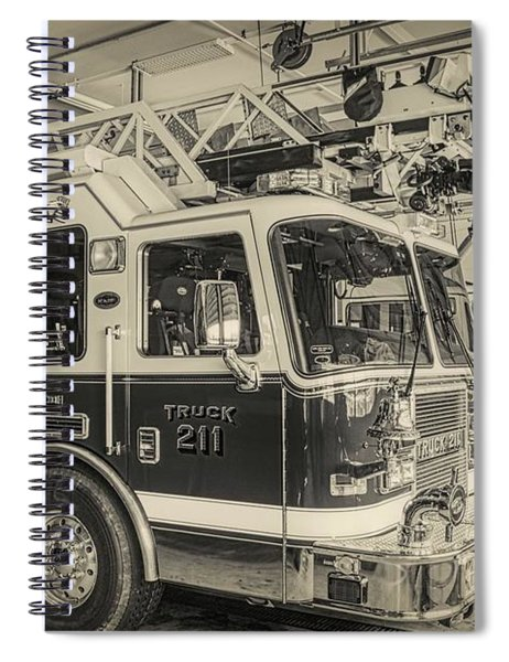 Truck And Engine 211 Spiral Notebook