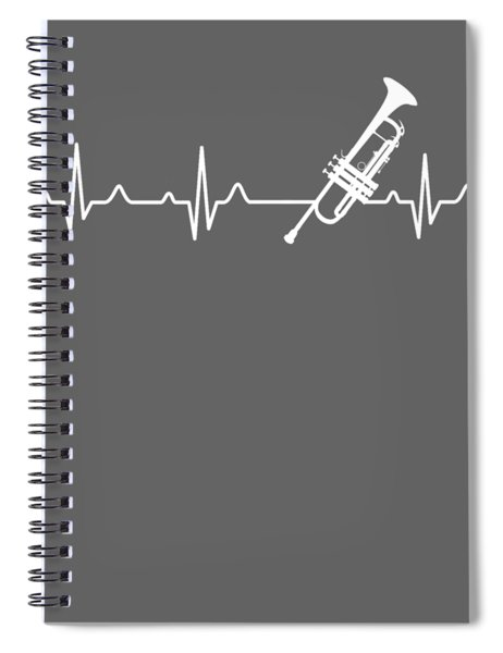Trumpet Heartbeat For Your Hobbie Tees Spiral Notebook